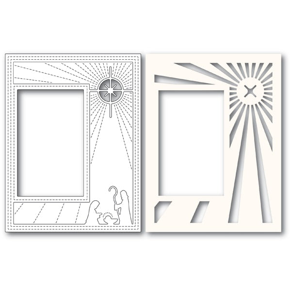 Poppystamps Die - Nativity Scene Sidekick Frame and Stencil - 2135