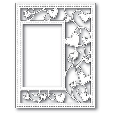 Poppystamps Die Ribbon Heart Sidekick Frame And Stencil