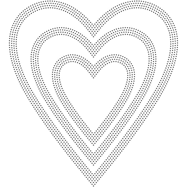Poppystamps Die - Pinpoint Hearts - 2162