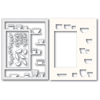 Poppystamps Die - Greenhouse Potted Plants Sidekick Frame and Stencil - 2176