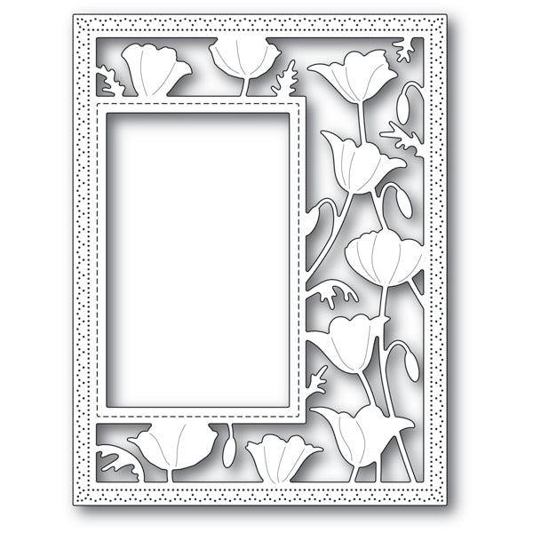 Poppystamps Die - Garden Poppy Sidekick Frame and Stencil - 2179