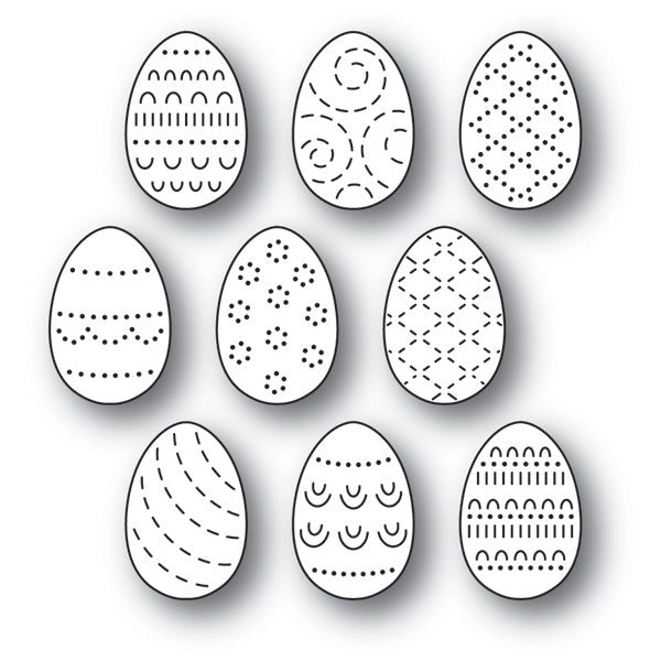 Poppystamps Die - Folk Decorated Eggs - 2180