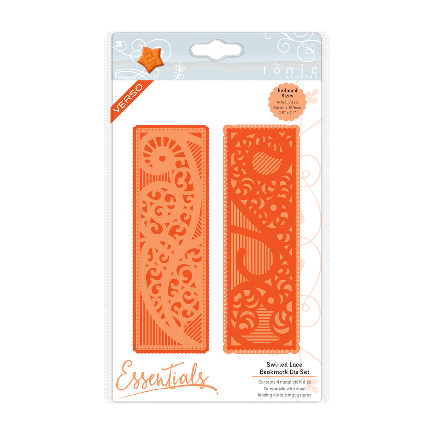 Tonic Dies: Bookmark Die Set - Swirled Lace - 2181e