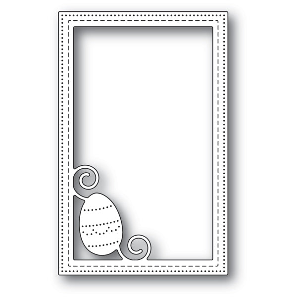 Poppystamps Die - Decorated Egg Stitched Frame - 2181