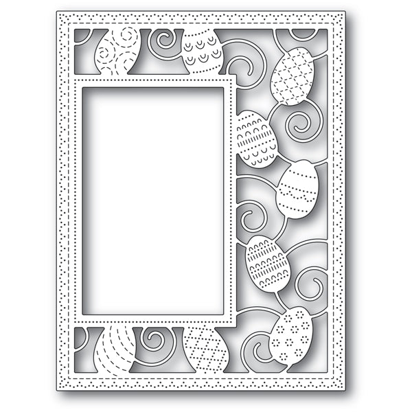 Poppystamps Die - Decorated Egg Sidekick Frame and Stencil - 2182