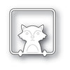 Poppystamps Die - Peek a Boo Fox - 2205