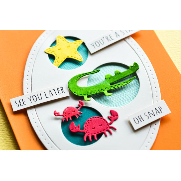 Poppystamps Die - Whittle Gator - 2215