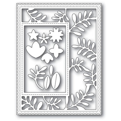 Poppystamps Die - Fun Floral Sidekick Frame and Stencil - 2220