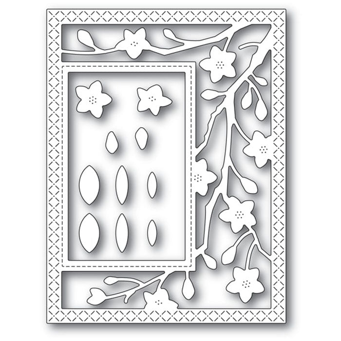 Poppystamps Die - Blooming Branches Sidekick Frame and Stencil - 2223