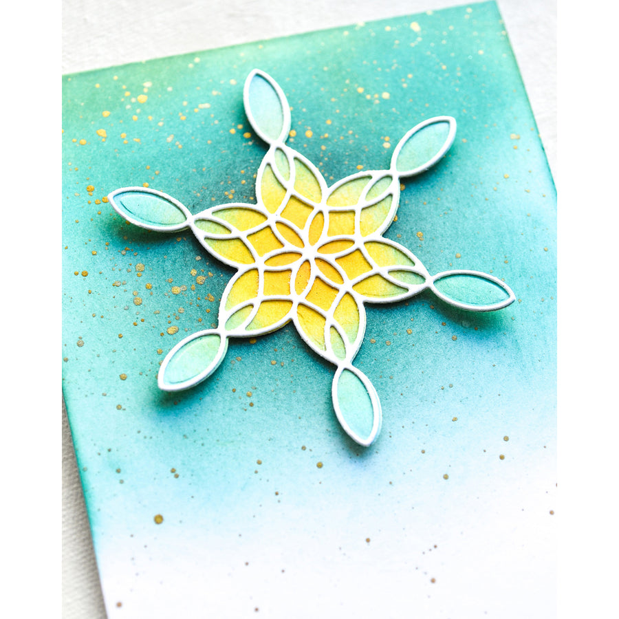 Poppystamps Die - Stained Glass Snowflake Background - 2276