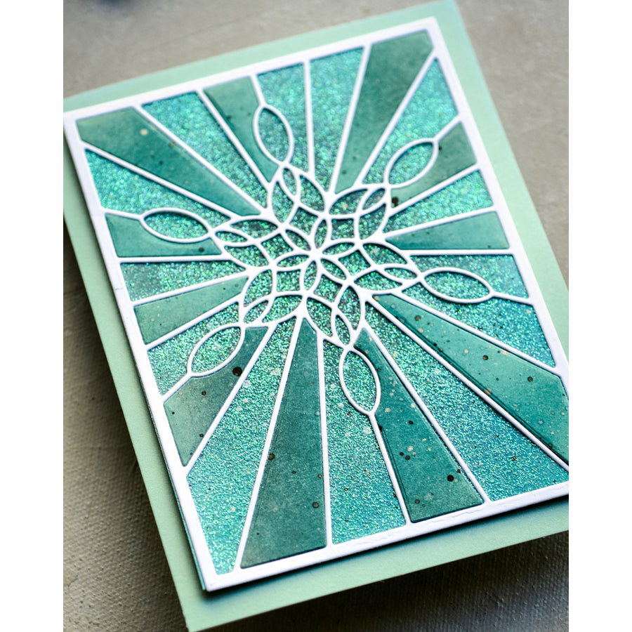 Poppystamps Die - Stained Glass Snowflake Window - 2273