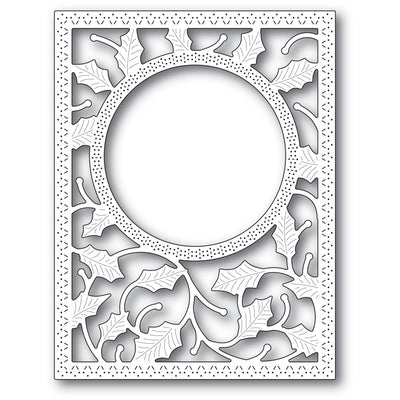 Poppystamps Die - Holly Frame and Stencil - 2283