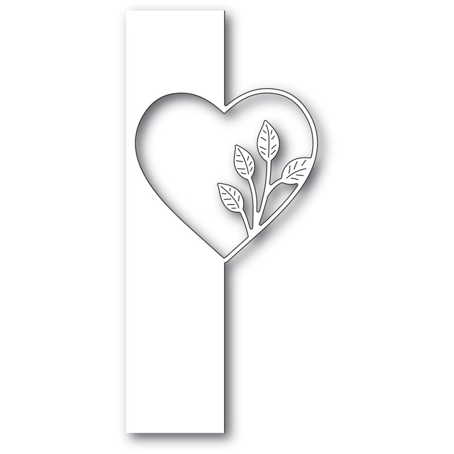 Poppystamps Die - Simple Leaf Heart Split Border - 2286