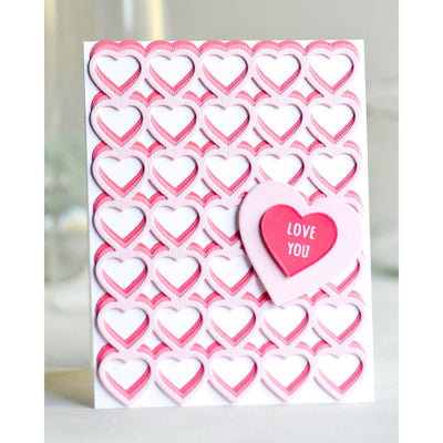 Poppystamps Die - Banded Hearts - 2287
