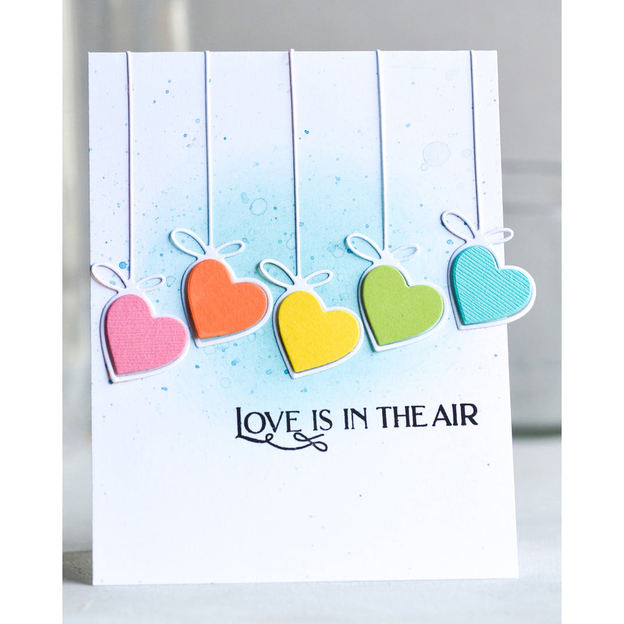 Poppystamps Die - Hanging Heart - 2288