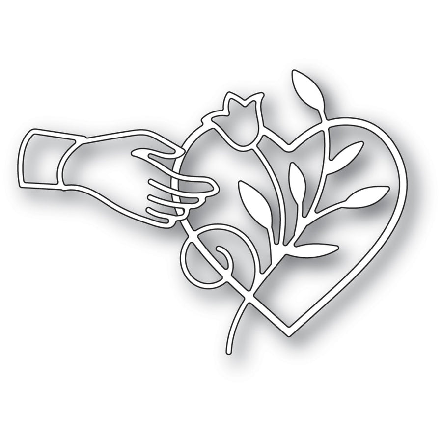 Poppystamps Die - Heart Favor - 2290