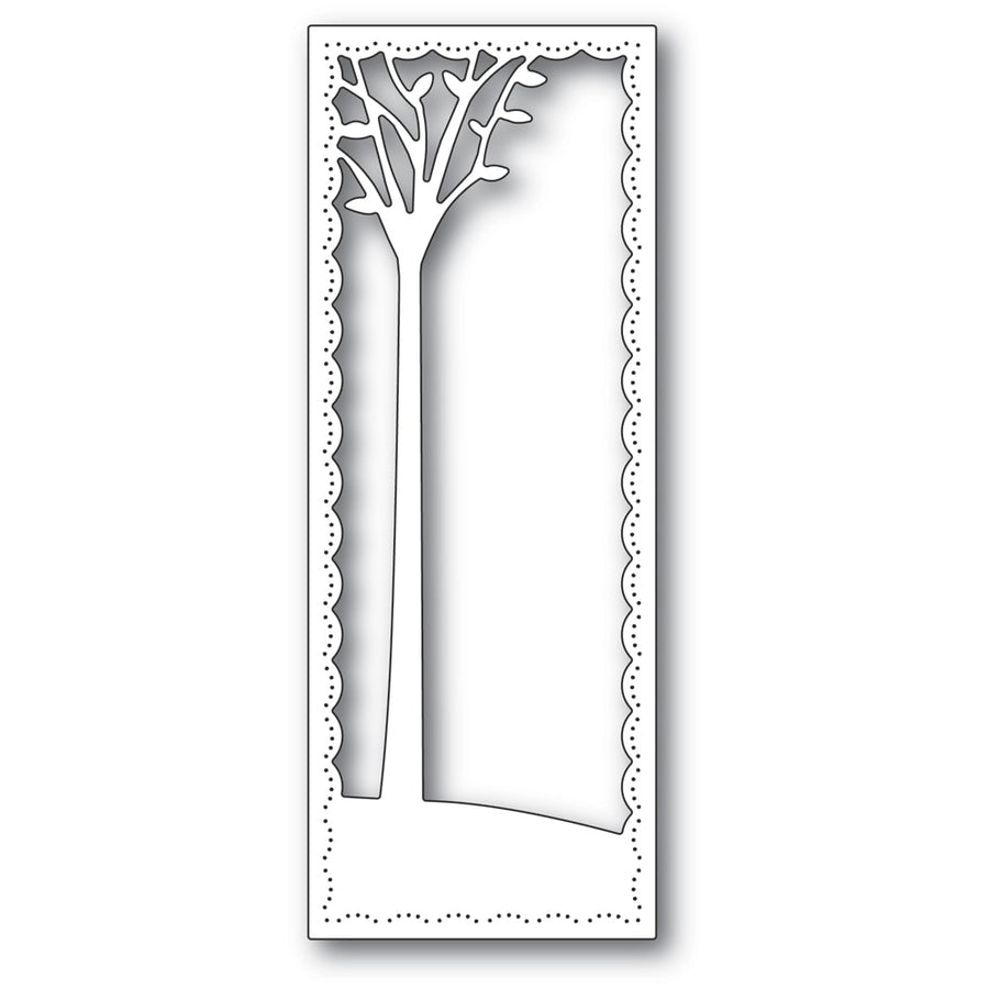 Poppystamps Die - Tall Skyline Tree - 2291