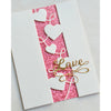 Poppystamps Die - Curvy Heart Side Strips and Stencil - 2301