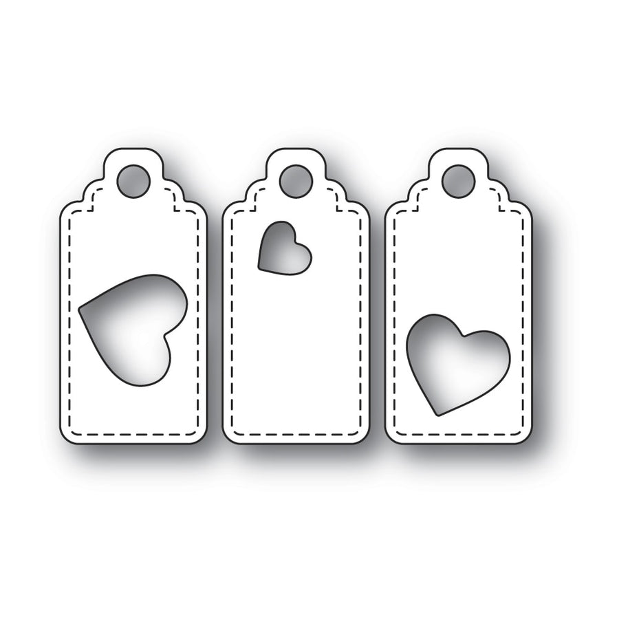 Poppystamps Die - Heart Tag Trio - 2302