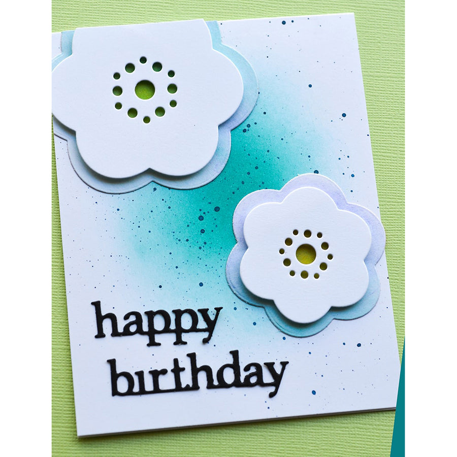 Poppystamps Die - Rounded Bloom Flowers - 2337