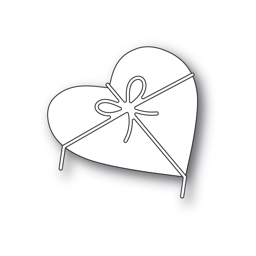 Poppystamps Die - Heart and Bow - 2313
