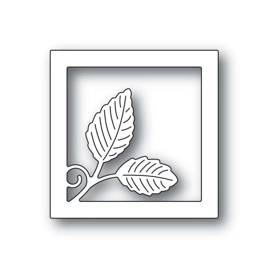 Poppystamps Die - Intricate Leaf Square Frame - 2321