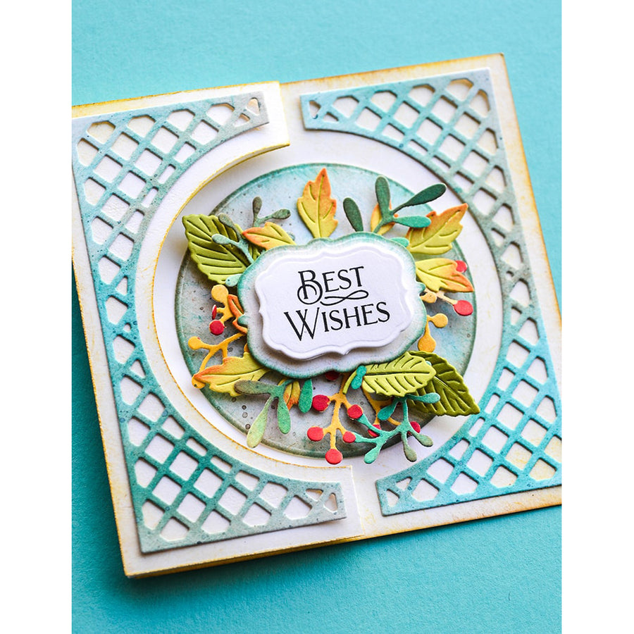 Poppystamps Die - Lattice Small Curve Border - 2345