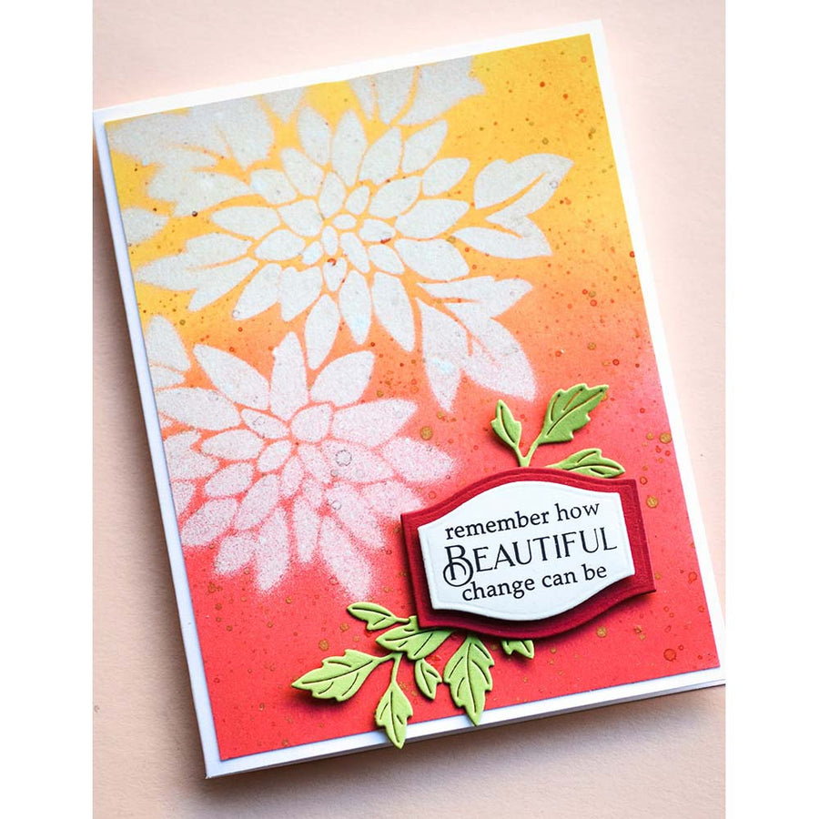 Poppystamps Die - Orchard Leaves - 2343
