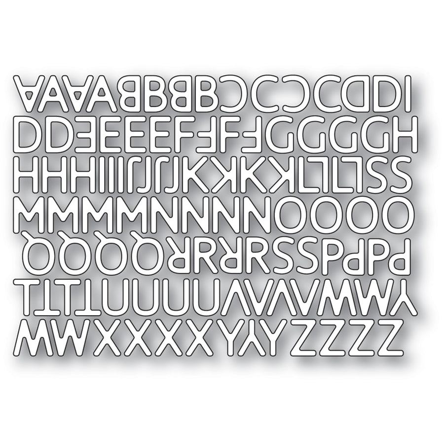 Poppystamps Die - Poetic Uppercase Alphabet - 2330