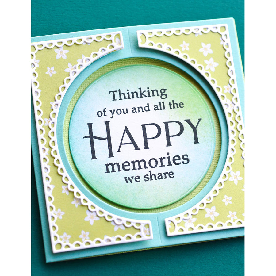 Poppystamps Die - Small Curve Background - 2347