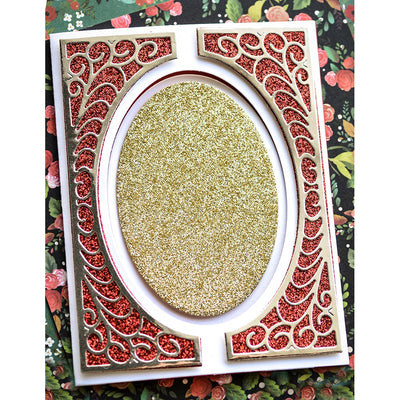 Poppystamps Die - Flourish Tall Curve Border - 2398