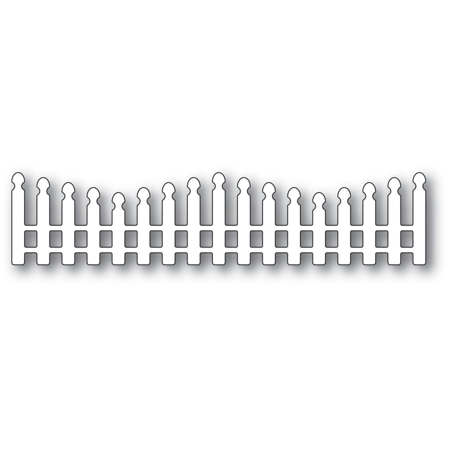 Poppystamps Die - Wavy Long Picket Fence - 2352