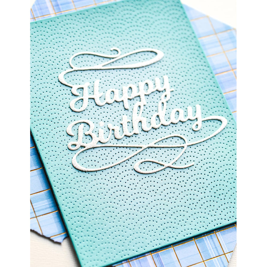 Poppystamps Die - Happy Birthday Flourish - 2374