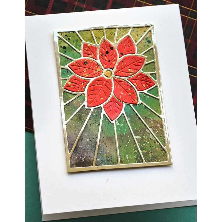 Poppystamps Die - Stained Glass Poinsettia - 2391