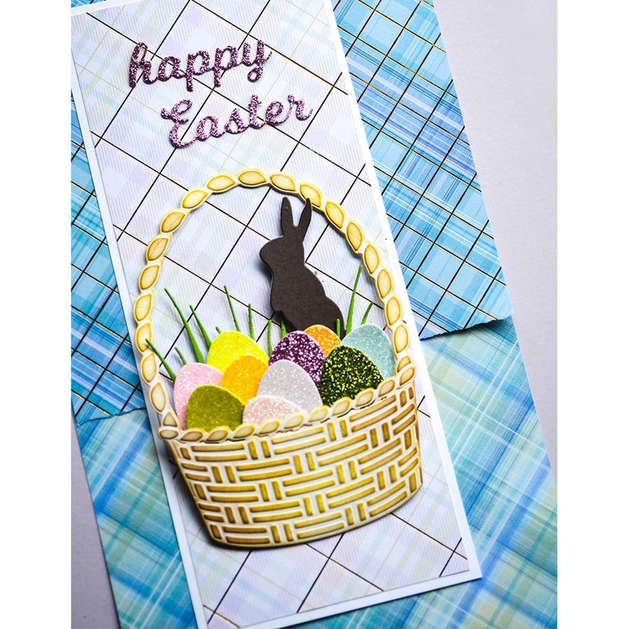 Poppystamps Die - Farm Fresh Eggs - 2459