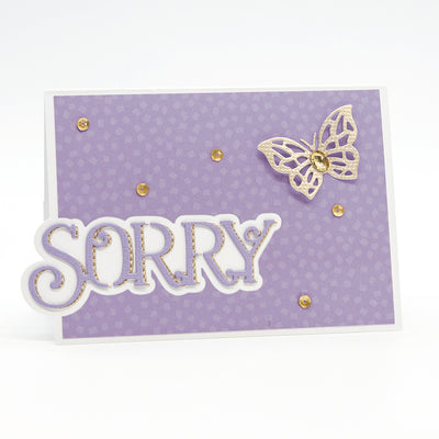 Toinic Studios - Sorry Sentiment Duo Die Set - 2565e