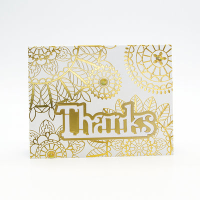 Toinic Studios - Thank You Sentiment Duo Die Set - 2566e