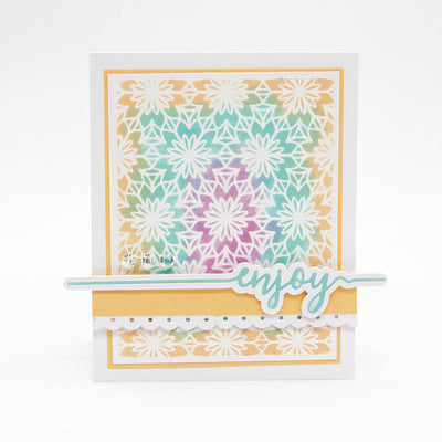 Tonic Studios - Enjoy Sentiment Strip Die Set - 2584e