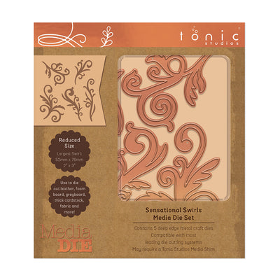 Tonic Studios - Sensational Swirls Media Die Sets - 2652e