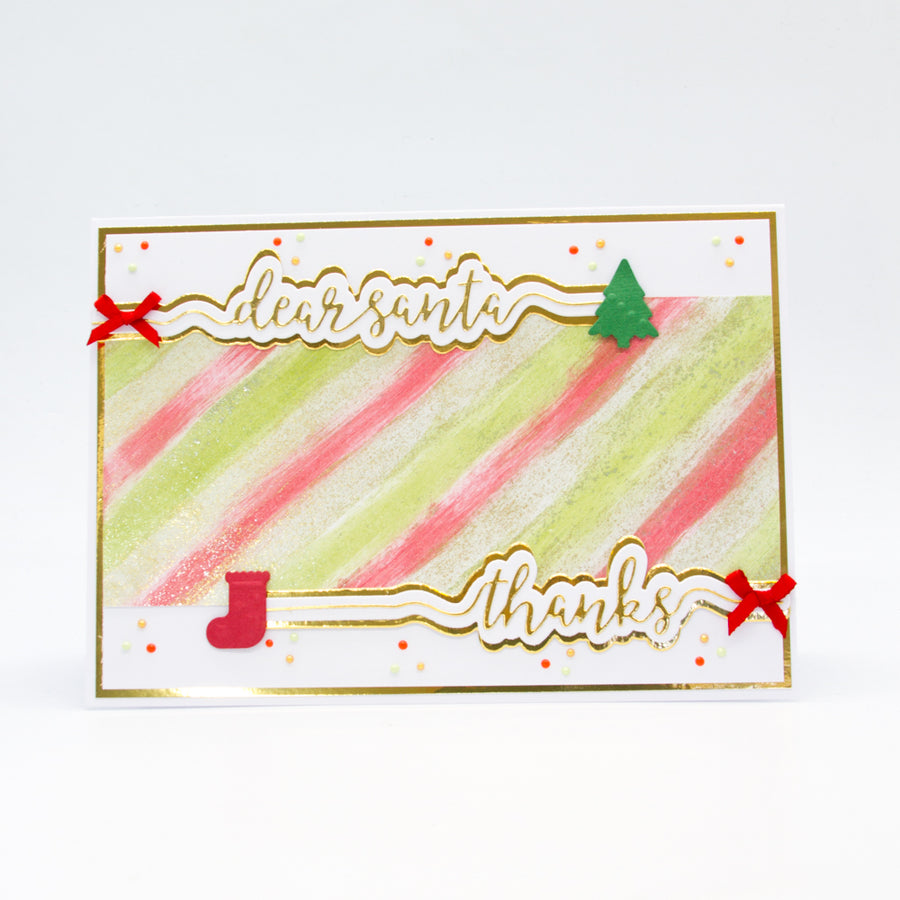 Tonic Studios - Tonic Studios - Dear Santa Sentiment Strip Die Set - 2849e
