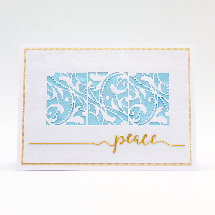 Tonic Studios - Tonic Studios - Peace Sentiment Strip Die Set - 2852e