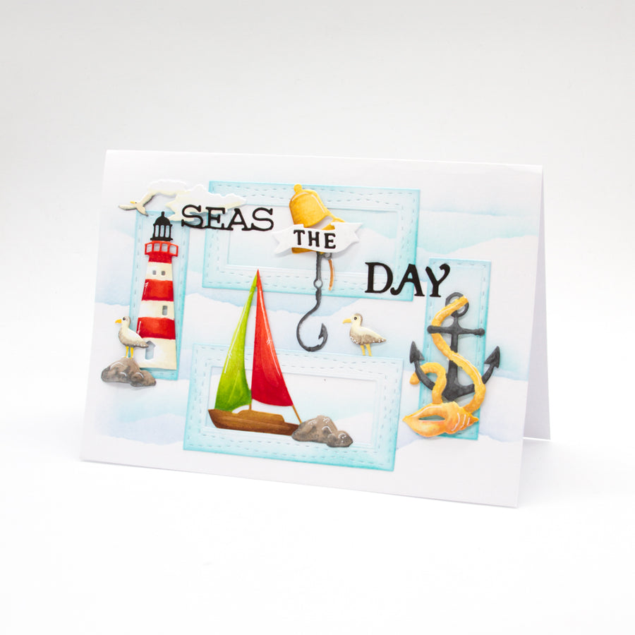 Tonic Studios - Day At Sea Celebration Frame Die Set - 2936e