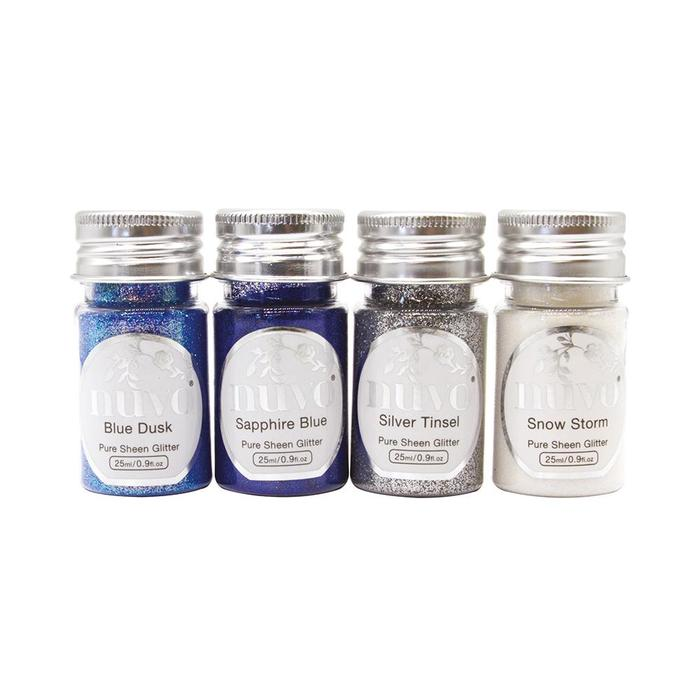 Tonic Studios Nuvo Pure Sheen Glitter (4 Pack) - Let it Snow - 297N