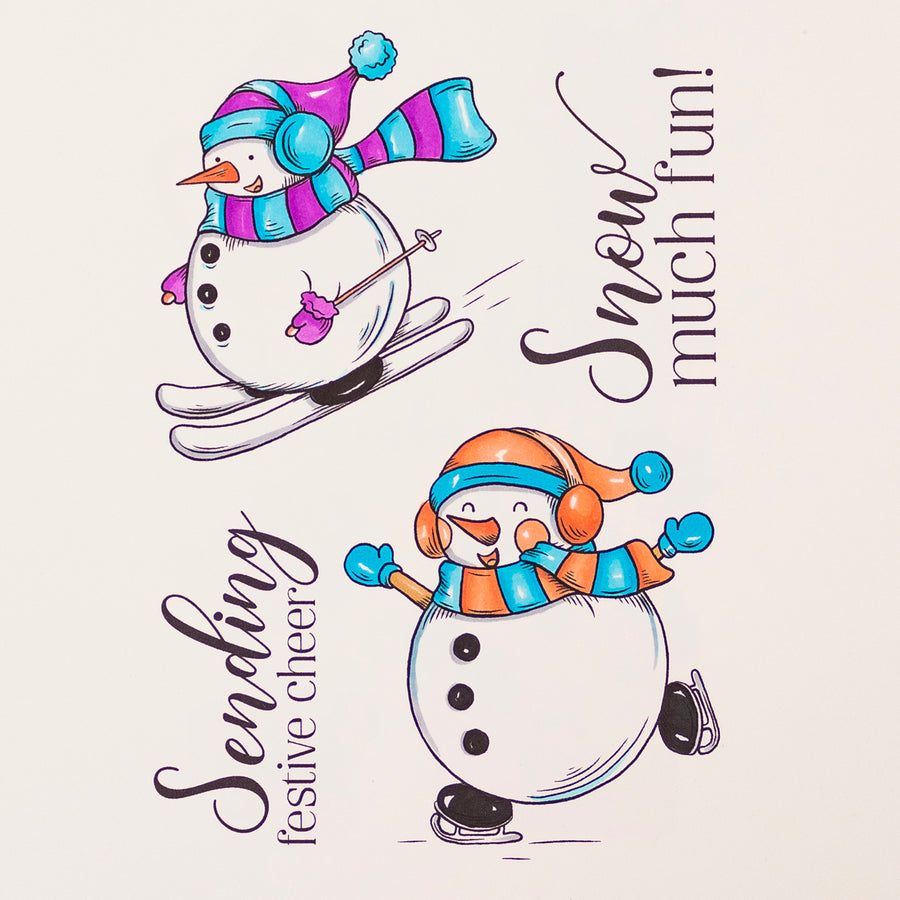 Crafters Companion Stamp - Snow Much Fun