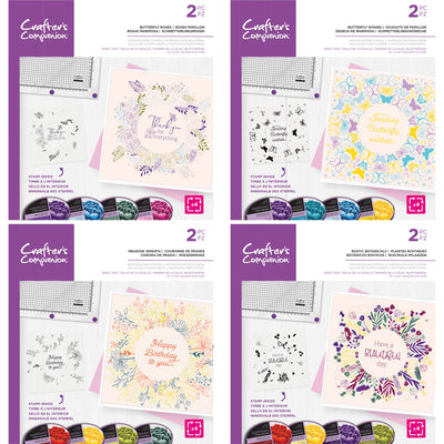 Crafters Companion Rotating Stamps Bundle Of 4