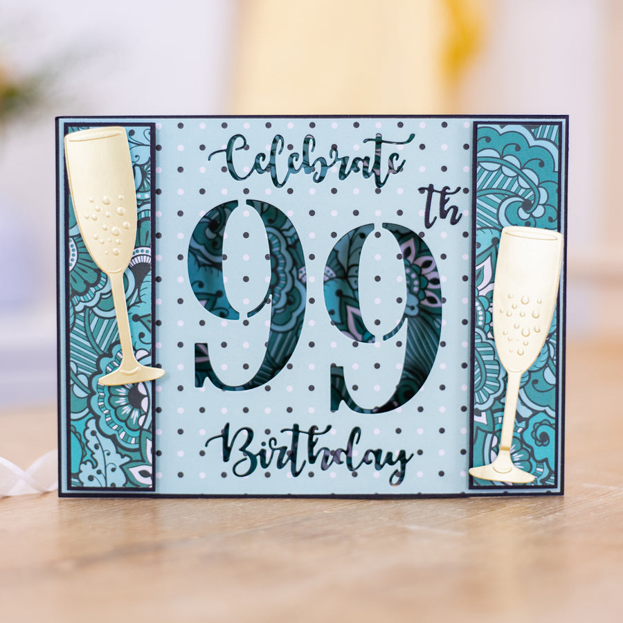 Gemini Die by Crafters Companion - Cut-In Numbers & Sentiments Bundle