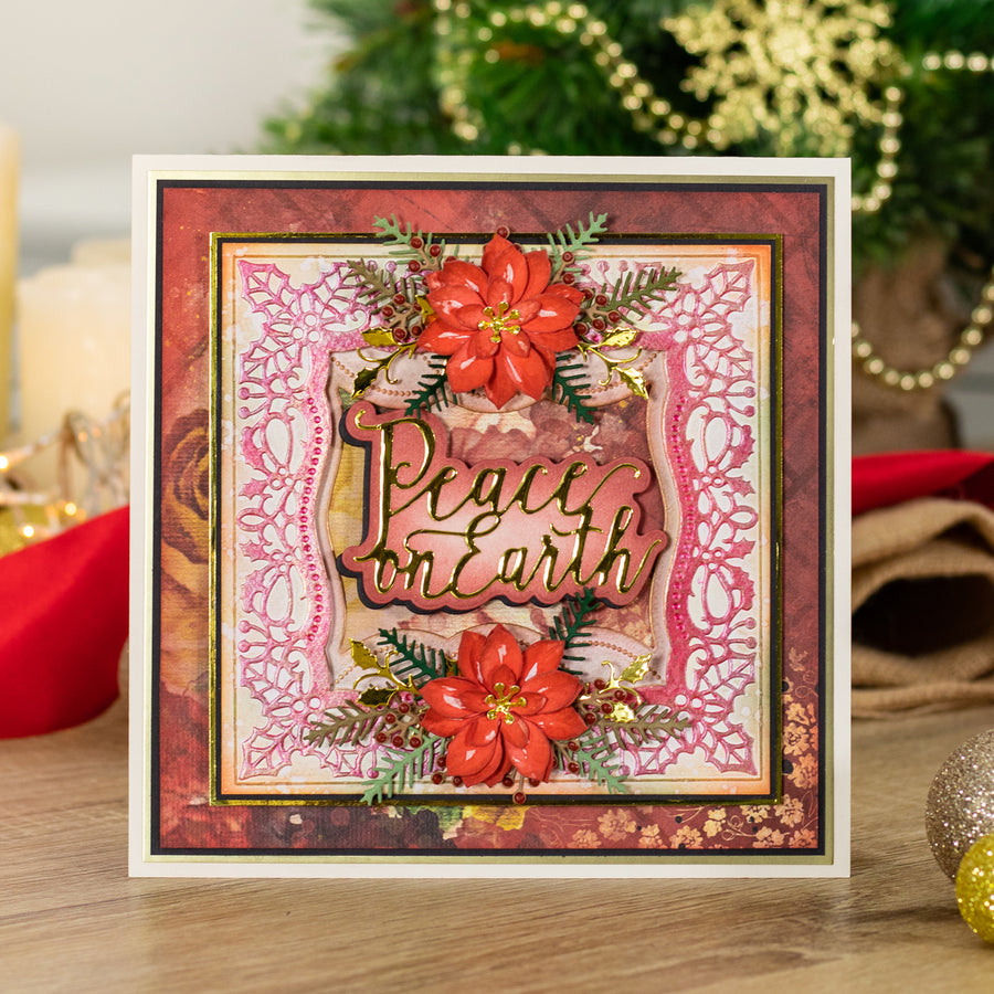 Nature's Garden - Vintage Christmas - Metal Die - Peace on Earth
