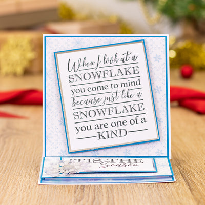 Crafters Companion - Clear Acrylic Stamps - Snowflakes are Kisses