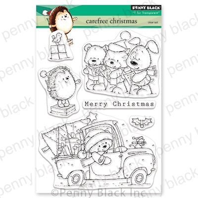 Penny Black Stamps - Carefree Christmas - 30-625
