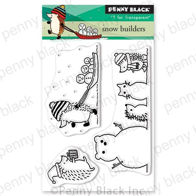 Penny Black Stamps - Snow Builders (Mini) - 30-633